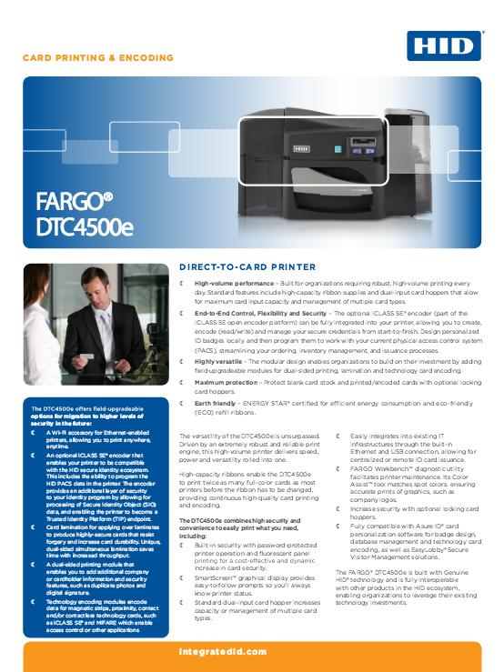 DTC4500e Brochure