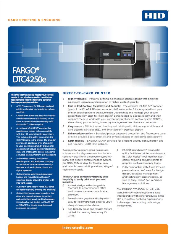 DTC4250e Brochure