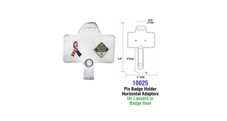 ID Pin Badge Adapters - Integrated ID Systems Inc