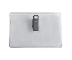 20058 - Horizontal Premium Clean Vinyl Badge Holder with Clip