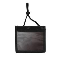 20071 - Horizontal 3 Pocket Nylon Badge Holder with Neck Cord