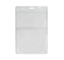 20084 - Vertical 2 Pocket Business Card and Event Size Badge Holder